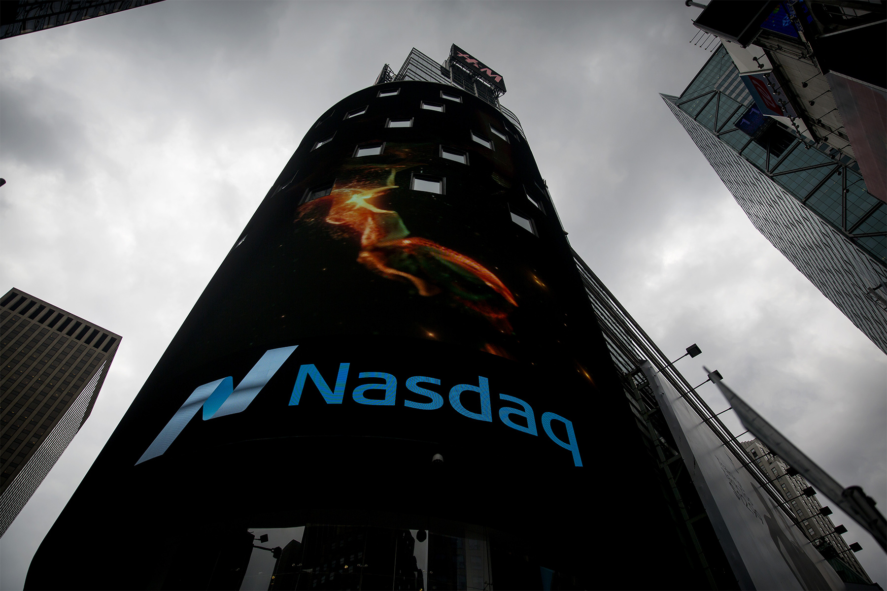 The Nasdaq MarketSite Stands In The Times Square Area Of New York, U.S., On Thursday, Aug. 18, 2016. U.S. Stocks Fluctuated As Investors Weighed Near-record Equity Levels, And Indications An Uncertain Economic Outlook Leaves Policy Makers With Little Reason To Raise Interest Rates. Photographer: Eric Thayer/Bloomberg